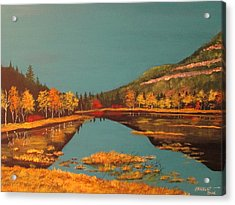 Wetlands In Autumn Acrylic Print