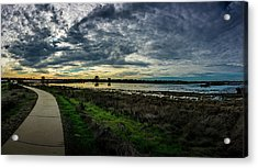 Wetlands Sunset Panorama Acrylic Print