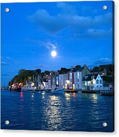 Weymouth Harbour, Full Moon Acrylic Print