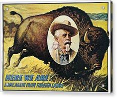 W.f.cody Poster, 1908 Acrylic Print by Granger