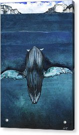 Acrylic Print featuring the mixed media Whale IIi by Anthony Burks Sr