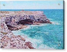 Whale Point Cliffs Acrylic Print