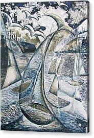 Whale Watching Acrylic Print by Douglas Pike