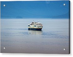 Whale Watching In Glacier Bay Acrylic Print
