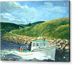 Whale Watching  Nova Scotia Acrylic Print by Ethel Vrana