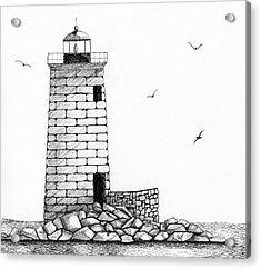 Whaleback Ledge Lighthouse Acrylic Print by Tim Murray