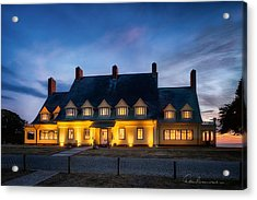 Whalehead Club Christmas 2337 Acrylic Print by Dan Beauvais
