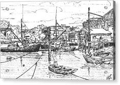 Whaler On Eel Pond Acrylic Print