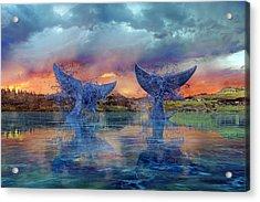 Whales II Acrylic Print by Betsy Knapp