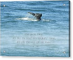 Acrylic Print featuring the photograph Whale's Tail by Peggy Hughes