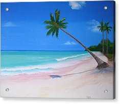 What A Beach Day Acrylic Print