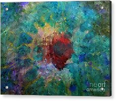 Acrylic Print featuring the digital art What A Bee Sees by Claire Bull
