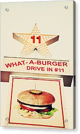 What A Burger Acrylic Print by Kim Fearheiley