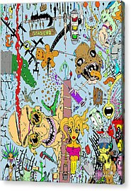 What A Mess Color Acrylic Print by Jack Norton