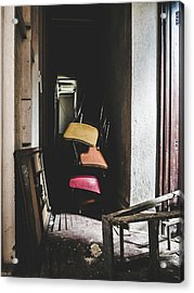 What A Mess. Hallway In Abandoned Building. Acrylic Print by Dylan Murphy