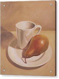 What A Pear Acrylic Print by Eva Folks