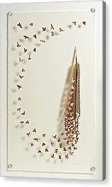 What Happens When You Tip A Feather Upside Down Acrylic Print by Chris Maynard