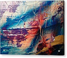 What Have We Done To The Sea Acrylic Print by Bruce Combs - REACH BEYOND