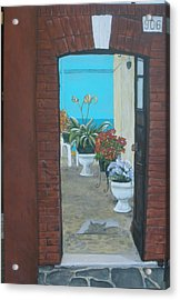 Acrylic Print featuring the painting What Is Inside... by Betty-Anne McDonald
