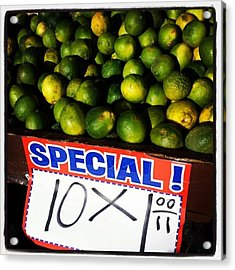 Acrylic Print featuring the photograph What Lime Shortage? #dontbelievethehype by Mr Photojimsf