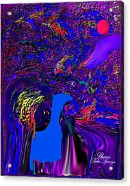 Acrylic Print featuring the digital art What Planet Are You Going To by Sherri  Of Palm Springs