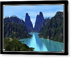 What River Acrylic Print by William  Ballester