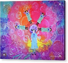 Acrylic Print featuring the mixed media What To Do by Desiree Paquette