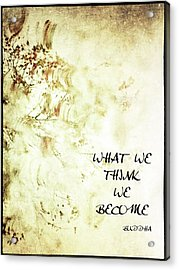 What We Think Acrylic Print by Skip Nall