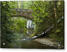 Whatcom Falls Bridge Acrylic Print