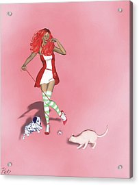 Whatever Happened To Strawberry Shortcake Acrylic Print by Pet Serrano