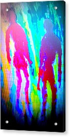 whatever the rumours say, I didnt   Acrylic Print by Hilde Widerberg