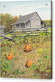 What's Left Of The Old Homestead Acrylic Print by Norm Starks