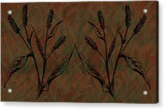 Wheat Field Acrylic Print by Evelyn Patrick
