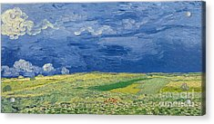 Wheatfields Under Thunderclouds Acrylic Print by Vincent Van Gogh