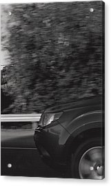 Wheel Blur Photograph Acrylic Print