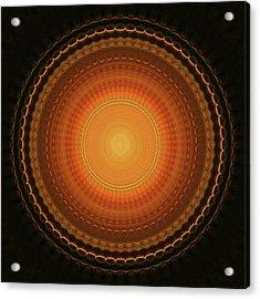Wheel Kaleidoscope Acrylic Print by Wim Lanclus