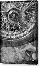 Acrylic Print featuring the photograph Wheel Of An Old Car. by Andrey  Godyaykin