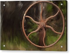 Wheel Of Life Acrylic Print by Davina Washington