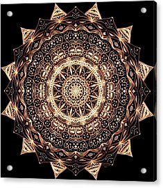 Wheel Of Life Mandala Acrylic Print