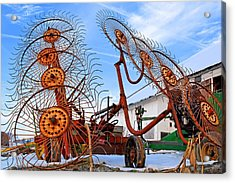 Wheel Rake Upside Down 2 Acrylic Print