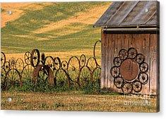 Wheels Of The Palouse Acrylic Print by Sandra Bronstein