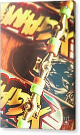 Wheels Trucks And Skate Decks Acrylic Print