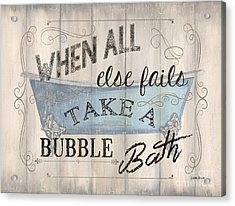 When All Else Fails Acrylic Print by Debbie DeWitt