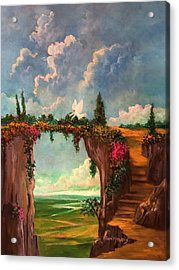 When Angels Garden In Heaven Acrylic Print