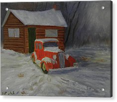 When Cars Were Big And Homes Were Small Acrylic Print