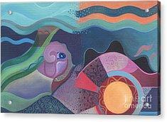When Deep Met Flow Acrylic Print