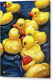 When Ducks Gossip Acrylic Print