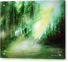 When Forest Sings Acrylic Print