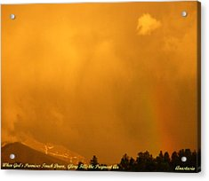 Acrylic Print featuring the photograph When God's Promises Touch Down... by Anastasia Savage Ealy
