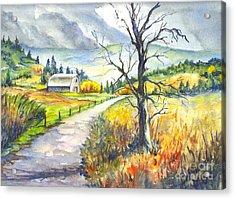When I Was Young Acrylic Print by Carol Wisniewski